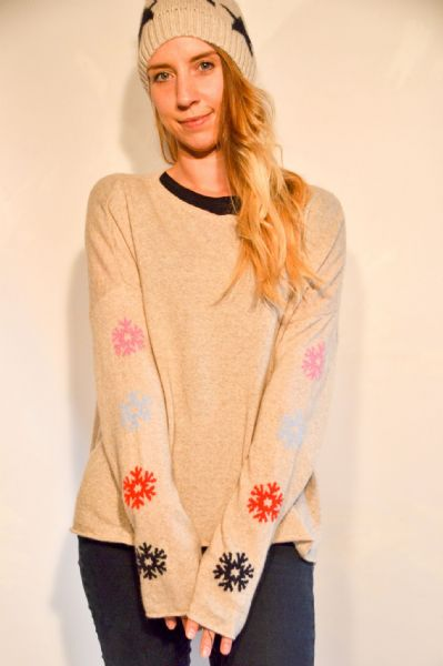 Christmas Snowflake Cashmere Jumper REDUCED FROM £60 NOW £36